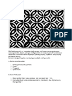 Menggambar Motif Batik Geometris