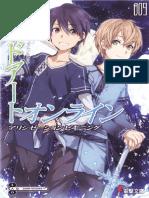 Sword Art Online - Volume 09 - Alicization Beginning [L1][Baka-Tsuki][SAO Archive]