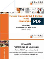 Forensic Evidence in Civil & Criminal Trials, DNA PROFILING