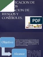 Identificacion d Epeligros Evaluacion de Riesgos y Controles