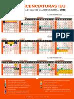 Licenciaturas Cuatrimestral 2018
