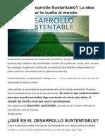 Qué Es El Desarrollo Sustentable
