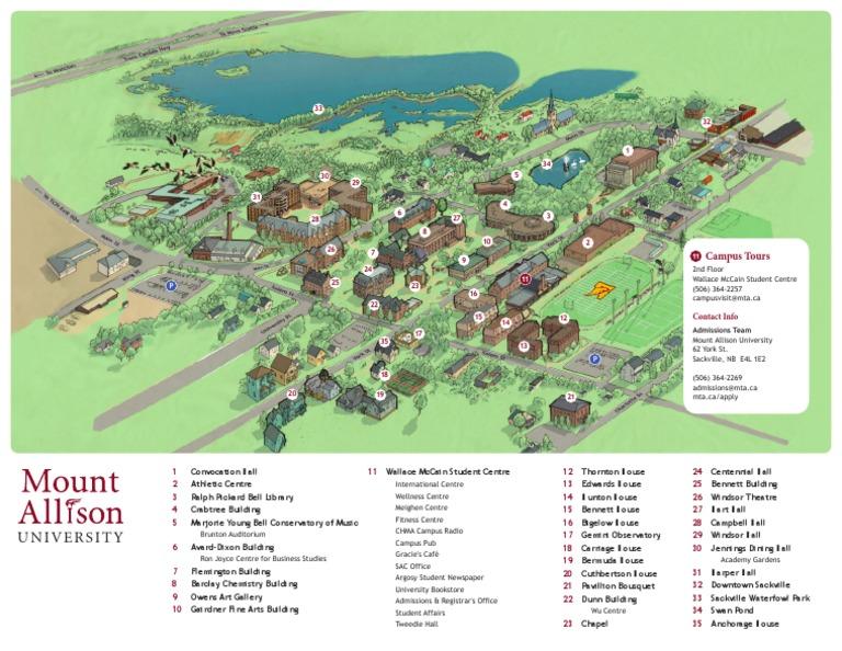 mount allison university campus map Mount Allison University Campus Map mount allison university campus map