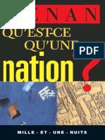 Ernest Renan - Qu'Est-ce Qu'Une Nation _ (1997, Mille Et Une Nuits)