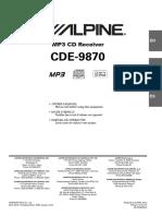 Alpine cde-9870