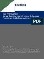 Manual Operativo Para El Fomento de Cadenas Productivas
