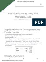 Function Generator Using X86 Microprocessor