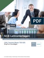 SCE de 700-020 CNC ShopTurn Grundlagen R1508