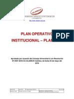 Plan Operativo Institucional 2018