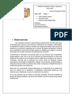 Destilación Simple y Destilacion Fraccionada