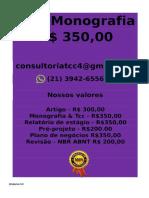 é Feito Por 350,00 Por Tcc Ou Monografia Whatsapp (21) 3942-6556 Monografiatcc174@Gmail.com(29)--Compressed