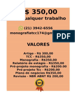 O valor é  R$ 350,00 POR qualquer  TCC OU MONOGRAFIA WHATSAPP (21) 3942-6556   consultoriatcc4@gmail.com(63)--compressed