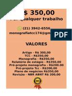 O valor é  R$ 350,00 POR qualquer  TCC OU MONOGRAFIA WHATSAPP (21) 3942-6556   consultoriatcc4@gmail.com(57)--compressed