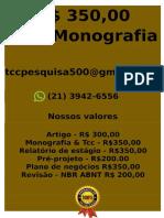 Meu Preço R$ 350,00 POR qualquer  TCC OU MONOGRAFIA WHATSAPP (21) 3942-6556   monografiatcc255@gmail.com(90)--compressed
