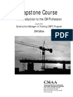 Capstone - an Introduction to the CM Profession