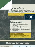 Gestión de proyectos de software - Subtema 3.1