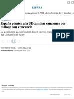 España plantea a la UE cambiar sanciones por diálogo con Venezuela _ España _ EL PAÍS.pdf