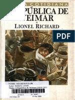 RICHARD, Lionel - A República de Weimar - Cap I - PDF Free Download