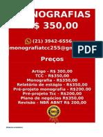 é Por 350,00 Por Tcc Ou Monografia Whatsapp (21) 3942-6556 Tccmonos@Gmail.com(11)--Compressed