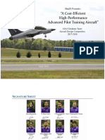 """A Cost-efficient High-performance Advanced Pilot Training Aircraft"""
