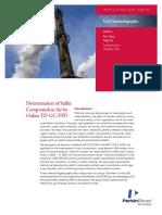 APP Determination of Sulfur Compunds in Air 013557 01
