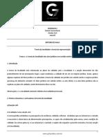 Roteiro de Aula - Aula 09 - Teoria Da Invalidade e Teoria Da Representação