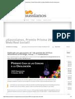 ¡¡Gaussianos, Premio Prisma 2018 a La Mejor Web_Red Social!! _ Gaussianos