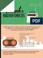 Formatos Radiofónicos - Diapo Final