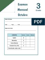 Octubre - 3er Grado - Examen Mensual (2018-2019).pdf