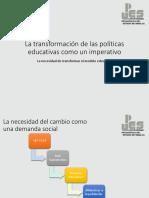 La Necesidad de Transformar El Modelo Educativo
