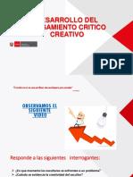 3. PPT. Pensamiento Critico y Creativo