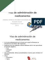 Vias de Administracion de Medicamentos Orleisa
