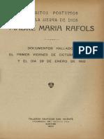 Profecías de la Madre María Rafols