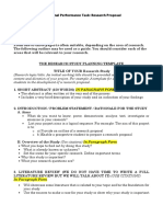 Research Study Proposal Template