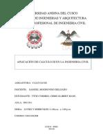 Aplicaciones de Calculo III en La Ingenieria Civil