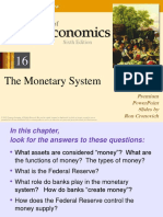 Chapter 16 Macroeconomics Principle - The Monetary System