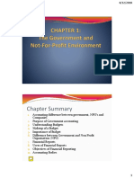 BA322 GA Notes Ch 1 - The Government and Not-For- Profit Environment