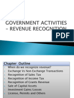 BA322 GA Notes Ch 4 - Government Activities - Revenue Recognition