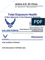Total Exposure Health - A New Approach to the Exposure Sciences