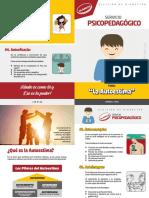Diptico Servicio Psicopedagogico AUTOESTIMA