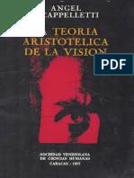 Cappelletti Angel j.-la Teoría Aristótelica de La Vision-sociedad Venezolana de Ciencias Humanas-caracas-1977