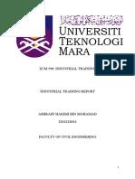 UiTM Industrial Training Report