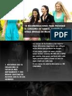 10 Recomendaciones Para Mujeres SOBRE EL USO DE BEBIDAS ALCOHÓLICAS
