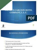 CASE ANALYSIS OF RITZ CARLTON COMPANY