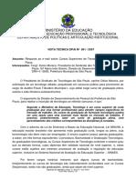 Decisão Do Mec Nota Técnica Dpai Nº 001 2007