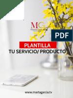 Plantilla tu servicio / producto