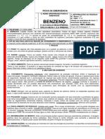 Benzeno Emergencia