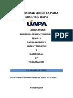 Tarea 5 Emprendurismo Uapa Santo Domingo ,,,,,,.,,.,