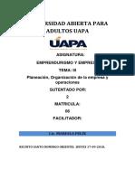 Tarea 03 Emprendurismo Uapa Santo Domingo ,.-.-.