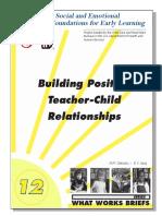Building Positive Teacher-Child Relationships